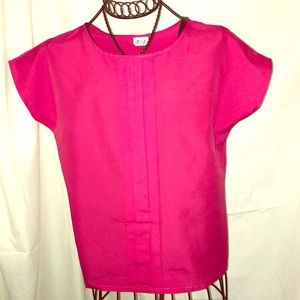 VINTAGE CAP SLEEVE BLOUSE TOP SMALL